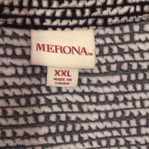 Merona Dresses - Merona black & white sleeveless pullover dress XXL